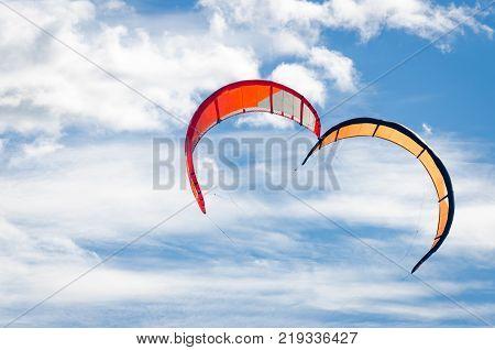 Many Kite Surfers Enjoy Their Loved Sport