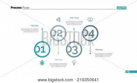 Marketing strategy steps slide template. Business data. Graph, diagram. Creative concept for infographic, presentation, report. Can be used for topics like improvement, efficiency, organization