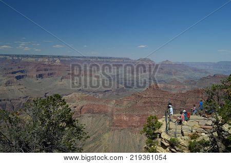 Grand Canyon Of The Colorado River. South Kaibab Trailhead. Geological formations. June 22 2017. Grand Canyon Arizona USA.
