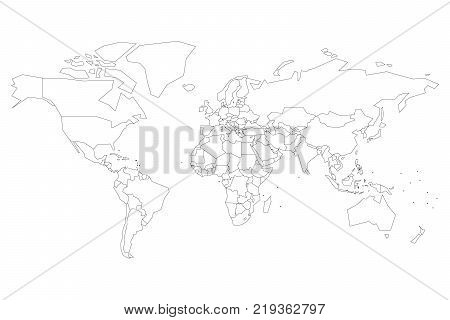 Political map world dots instead vector photo bigstock political map of world with dots instead of small states blank map for school quiz gumiabroncs Image collections