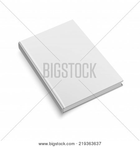Blank softcover book or magazine template on white background.Mock up. Vector illustration.