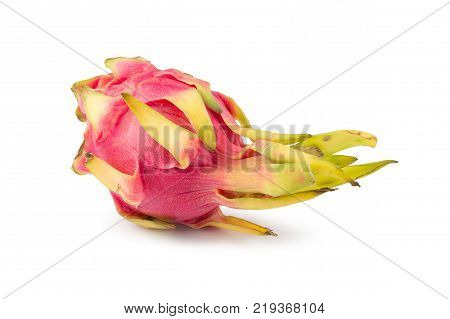 Vivid And Vibrant Dragon Fruit Isolated On White Background