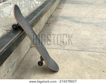 skateboard near the ramp extreme sport at thailand