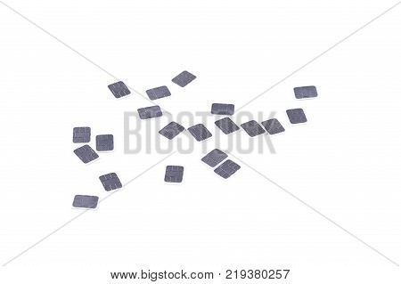 Mamy Nano-sim Carsd Isolated On White, 4Ff Mobile Phone Sim Card, Subscriber Identity Module, Place