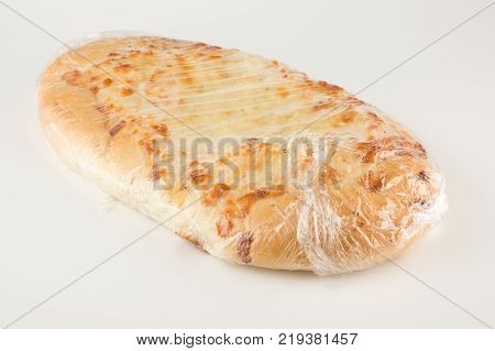 Fresh cheese tortilla isolated on white background