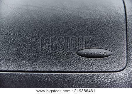 Texture background unused airbag auto. Copy space