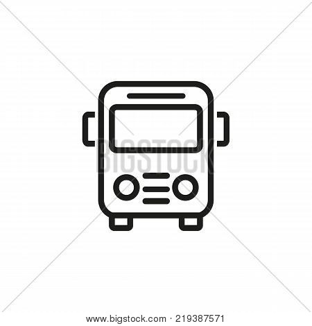 Line icon of bus sign. Bus station, school bus, passenger transportation. Transport concept. Can be used for topics like transportation, travel, road signs