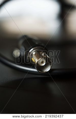 video security camera dvr cable isolated close up