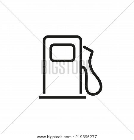 Line icon of petrol filling station. Fuel, gasoline, gas filling station. Road signs concept. Can be used for topics like transportation, energy, oil and gas industry