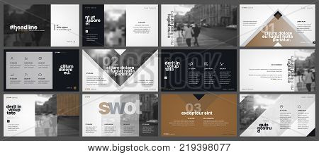 Minimal creative presentation templates elements and background. Vector infographics. Use in Presentation, flyer and leaflet, corporate report, marketing, advertising, annual report, banner.