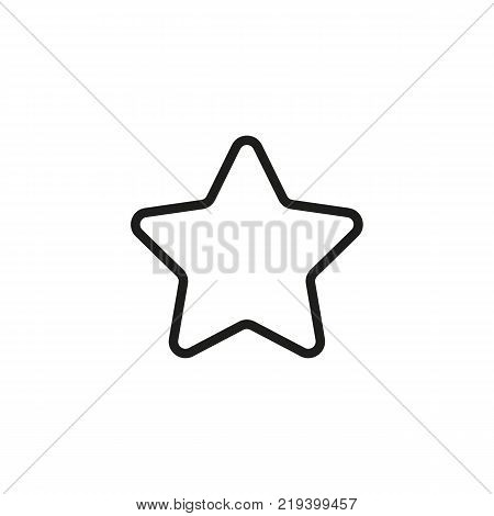 Line icon of star. Featured content, bonus, rating. Symbols concept. Can be used for web pictograms, design and application icons