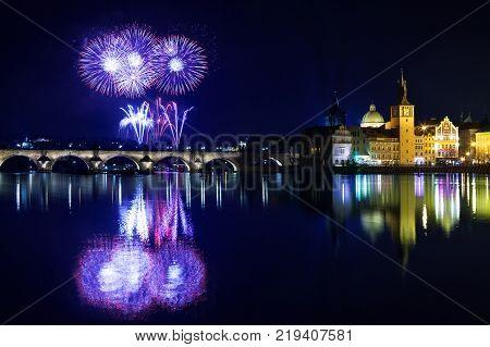 New year atmosphere in Prague, Czech Republik