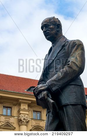 statue of Czechoslovak President Edvard Benes in Prague at the Ministry of Foreign affairs.
