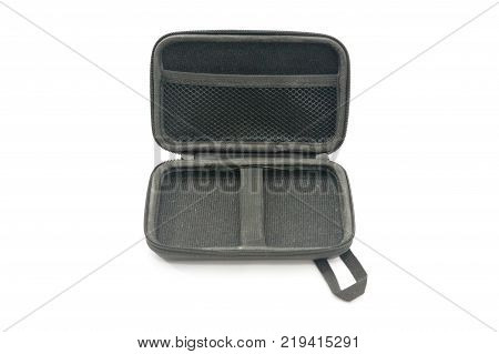 inside of the protection bag with zipper isolated on white