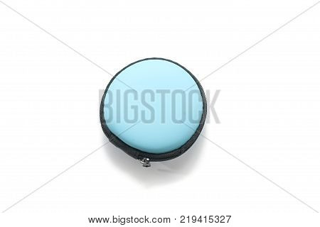 round protection bag with zipper isolated on white