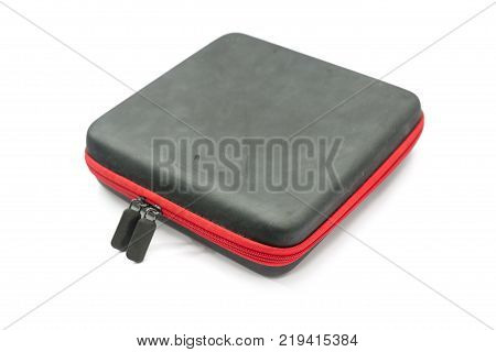 rectangular protection bag with zipper isolated on white