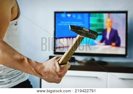 Truth Misrepresented In The News On A Modern Tv