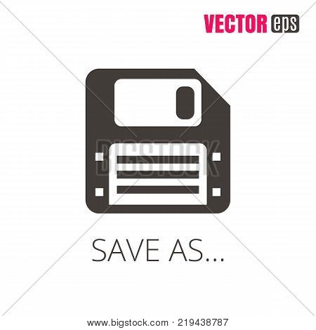 Vector EPS 10 Save icon. Floppy disk icon for mobile apps, web sites, UI design