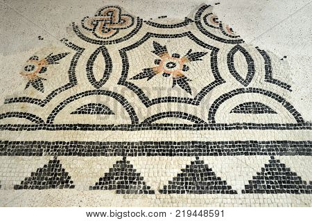 The remains of ancient mosaics found in Lombardy during several excavations - Lombardy - Italy 003