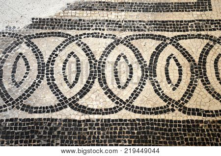 The remains of ancient mosaics found in Lombardy during several excavations - Lombardy - Italy 010