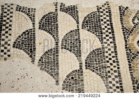 The remains of ancient mosaics found in Lombardy during several excavations - Lombardy - Italy 008
