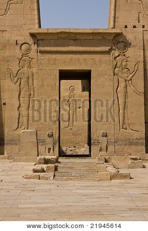 A portal in Philae Temple in Aswan, Egypt