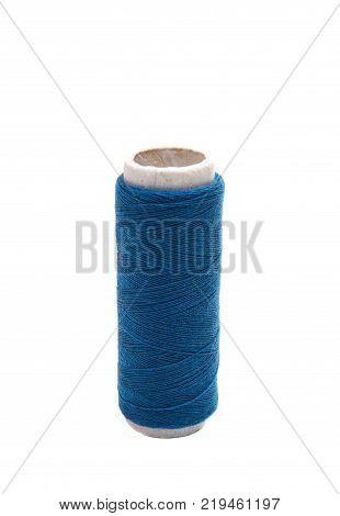 sewing thread handmade equipment on white background