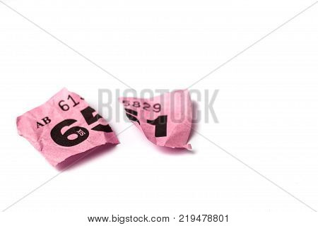 Yellow And Pink Raffle Tickets With Negative Space For Copy