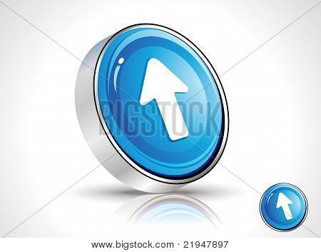 Abstract Blue Shiny Cursor Icon