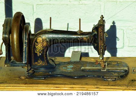 Antique sewing machine which is now a collectable item