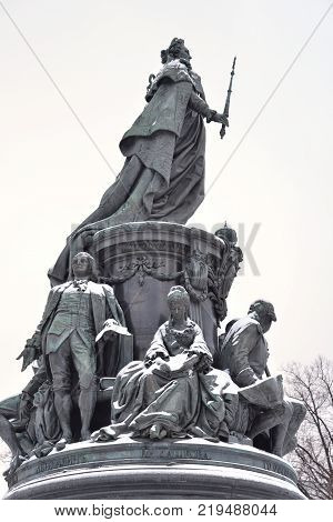 Monument to Catherine II - a monument on Ostrovsky Square in St. Petersburg established in honor of Empress Catherine II in 1873 Russia.