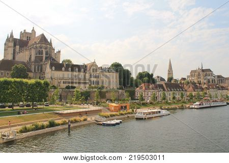 Auxerre, Town of Art and History and capital of the Yonne department in France