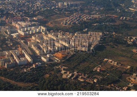 Aerial view of Algiers, capital city of Algeria