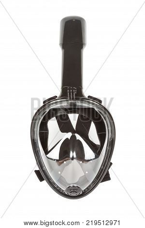 Modern Full Face Diving Mask with Integrate Snorkel on a white background