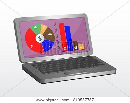 Laptop vector graphic design can be used as an element of creativity