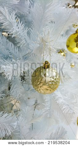 Gold background Christmas decoration for party and cerebration
