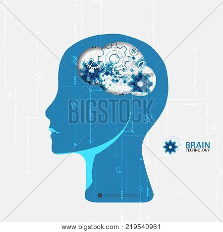 Creative Brain Concept Background.