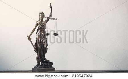The Statue of Justice - lady justice or Iustitia / Justitia the Roman goddess of Justice. copyspace for your individual text.
