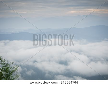 Beautiful Cloudy Weather In Mountains, Cloudy And Fog
