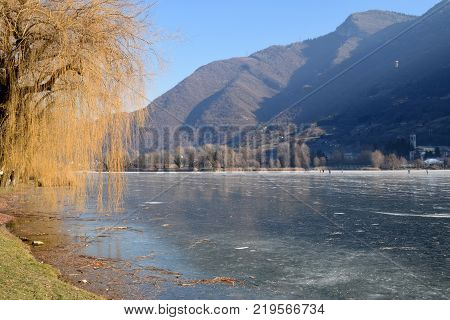 An entire lake completely frozen - Lake Endine - Bergamo - Lombardy - Italy 005