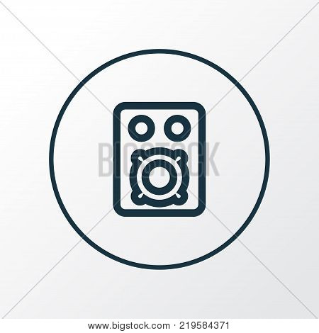 Amplifier icon line symbol. Premium quality isolated speaker element in trendy style.