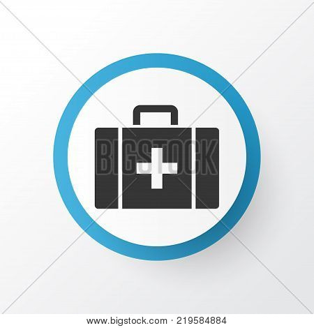 Case icon symbol. Premium quality isolated chest element in trendy style.
