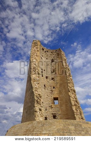 Torre del Serpe is a watchtower on the Apulian coast near Otranto (Italy).  poster