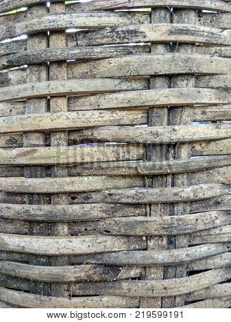 old bamboo background.Bamboo rattan texture and background.woven bamboo texture for background.use for background or print wallpaper.
