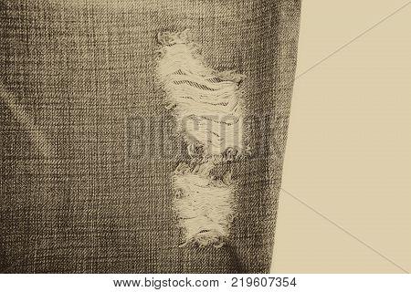 Denim Jeans Background With Seam of Jeans Fashion Design. Stitched Texture Denim Jeans Background of Fashion Jean Design
