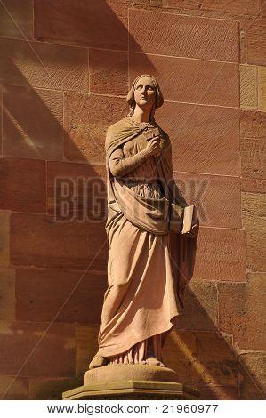 Sculpture Of Cathédrale Notre-dame De Strasbourg, France