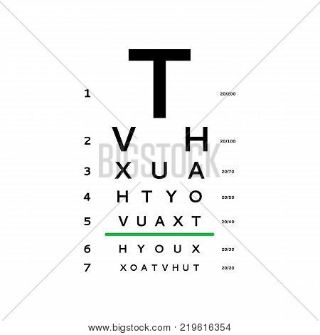 Eyes Test Chart Tests Vector Photo Free Trial Bigstock
