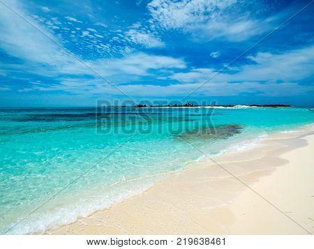Seascape of Cayo de Agua (Los Roques archipelago, Venezuela).