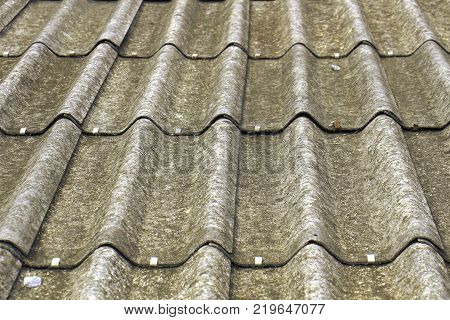 Black roof texture background on straight line