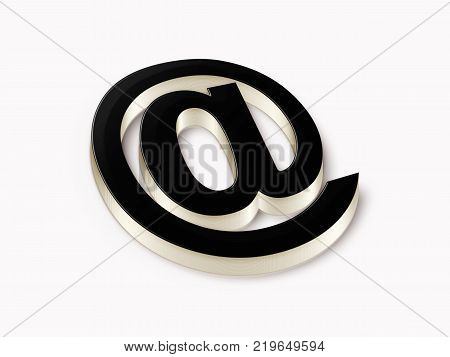 E-mail 3D symbol. Internet concept. Illustration stock.